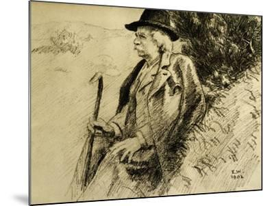 Portrait of Edvard Grieg in Countryside--Mounted Giclee Print