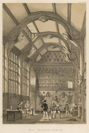 Hall, Adlington, Cheshire-Joseph Nash-Stretched Canvas Print
