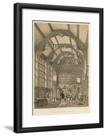 Hall, Adlington, Cheshire-Joseph Nash-Framed Giclee Print