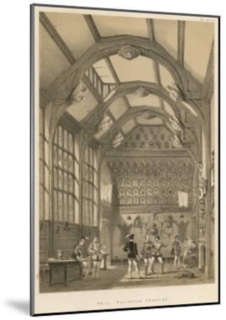 Hall, Adlington, Cheshire-Joseph Nash-Mounted Giclee Print