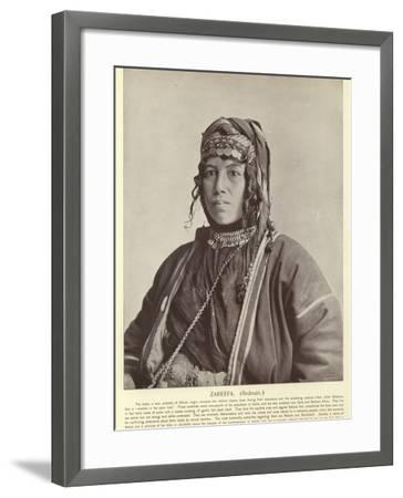 Zareefa, Bedouin--Framed Photographic Print
