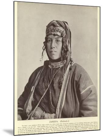 Zareefa, Bedouin--Mounted Photographic Print
