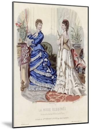 French Fashion Plate, Late 19th Century--Mounted Giclee Print