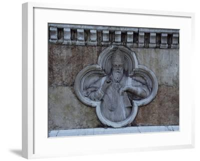 Facade Relief from San Petronio--Framed Giclee Print