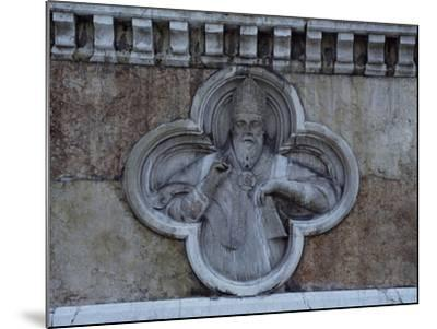 Facade Relief from San Petronio--Mounted Giclee Print