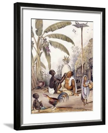 The Village Barber, 1842-William Tayler-Framed Giclee Print