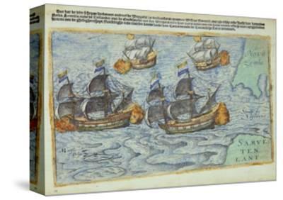 Journey of William Barents or Willem Barentsz--Stretched Canvas Print