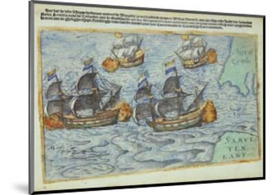 Journey of William Barents or Willem Barentsz--Mounted Giclee Print