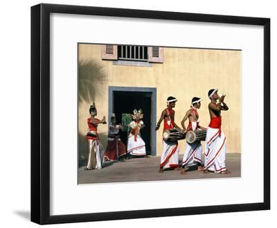 Sinhalese Dancers, Sri Lanka--Framed Photographic Print