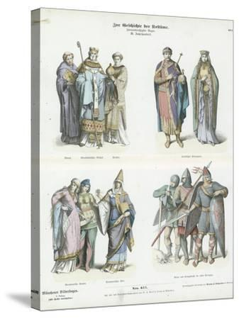 Costumes of the 11th Century--Stretched Canvas Print