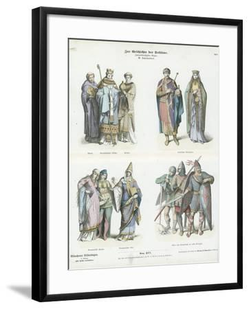 Costumes of the 11th Century--Framed Giclee Print