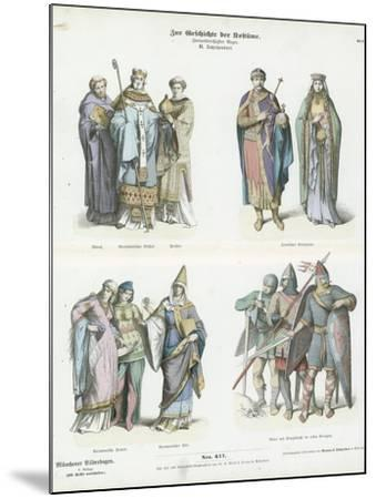Costumes of the 11th Century--Mounted Giclee Print