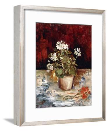 Still-Life Pot of Geraniums, 1886-Vincent van Gogh-Framed Giclee Print