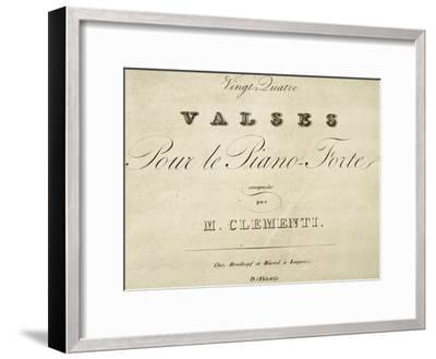 Title Page of Waltz for Piano-Muzio Clementi-Framed Giclee Print
