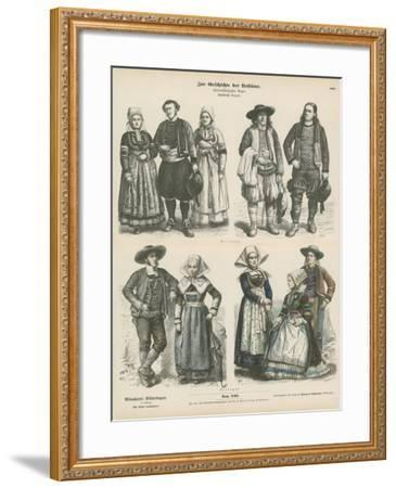 Costumes of Brittany, Late 19th Century--Framed Giclee Print