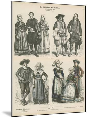 Costumes of Brittany, Late 19th Century--Mounted Giclee Print