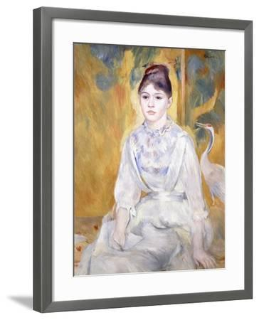 Young Girl with a Swan, 1886-Pierre-Auguste Renoir-Framed Giclee Print