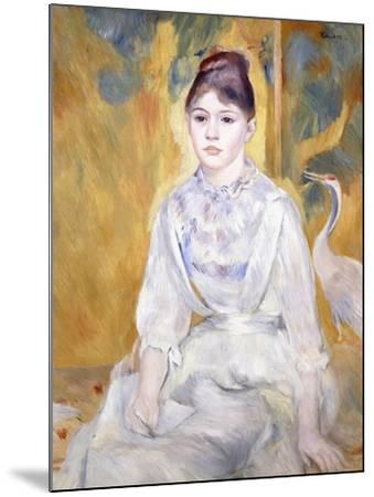 Young Girl with a Swan, 1886-Pierre-Auguste Renoir-Mounted Giclee Print