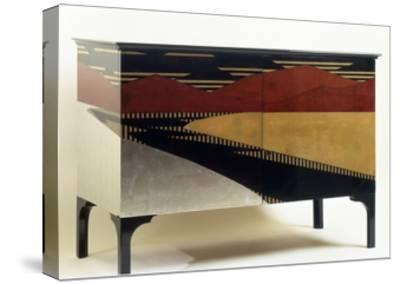 Lacquered Art Deco Style Cabinet--Stretched Canvas Print