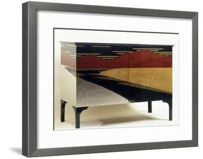Lacquered Art Deco Style Cabinet--Framed Giclee Print
