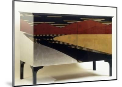 Lacquered Art Deco Style Cabinet--Mounted Giclee Print