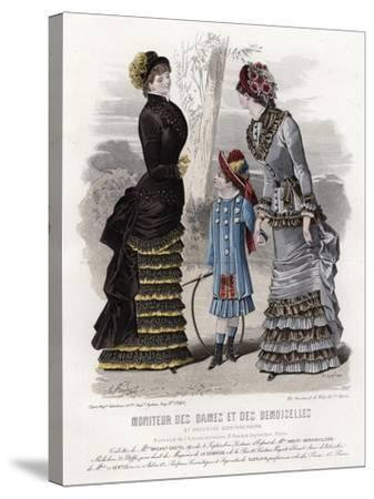 French Fashion Plate, Late 19th Century--Stretched Canvas Print
