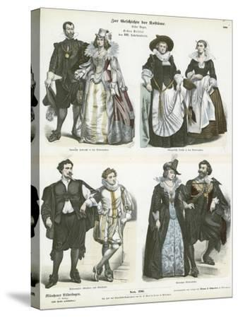Costumes of the Netherlands, Early 17th Century--Stretched Canvas Print