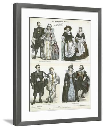 Costumes of the Netherlands, Early 17th Century--Framed Giclee Print