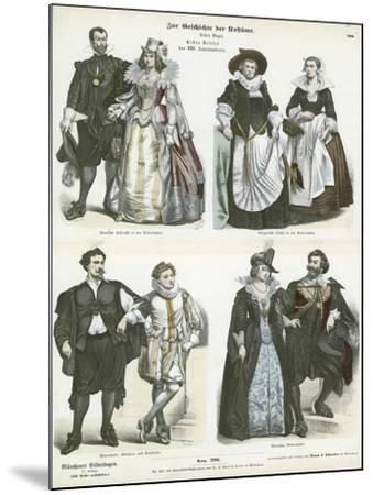 Costumes of the Netherlands, Early 17th Century--Mounted Giclee Print