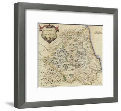 Map of Durham-Robert Morden-Framed Giclee Print