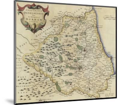 Map of Durham-Robert Morden-Mounted Giclee Print