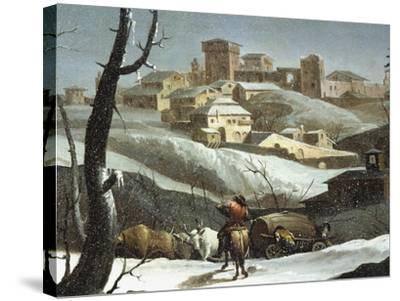 Landscape with Snow-Andrea Urbani-Stretched Canvas Print