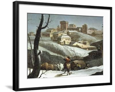 Landscape with Snow-Andrea Urbani-Framed Giclee Print