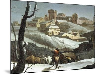 Landscape with Snow-Andrea Urbani-Mounted Giclee Print
