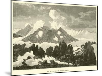 Crater of Mount Hekla--Mounted Giclee Print