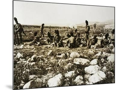 Ascari Camp in Sidi Ibrahim El Muscase, Cyrenaica--Mounted Giclee Print