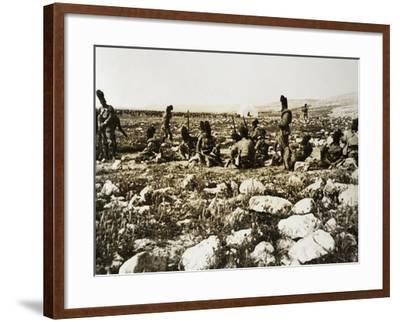 Ascari Camp in Sidi Ibrahim El Muscase, Cyrenaica--Framed Giclee Print