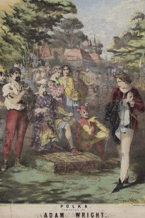 As You Like It, Polka, Adam Wright-Alfred Concanen-Stretched Canvas Print