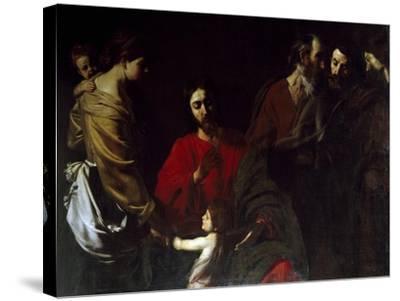 Christ Among the Children-Nicolas Tournier-Stretched Canvas Print