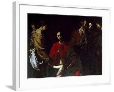 Christ Among the Children-Nicolas Tournier-Framed Giclee Print