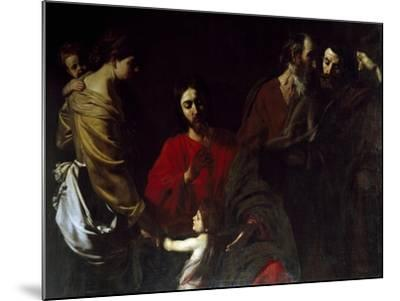 Christ Among the Children-Nicolas Tournier-Mounted Giclee Print