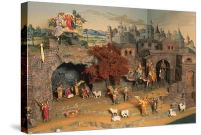 Nativity Scene--Stretched Canvas Print