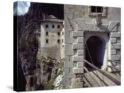 Detail of Entrance Way to Predjama Castle--Stretched Canvas Print