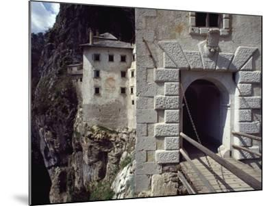 Detail of Entrance Way to Predjama Castle--Mounted Giclee Print
