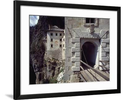 Detail of Entrance Way to Predjama Castle--Framed Giclee Print