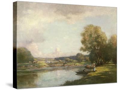 Summer at Hemingford Grey-William Kay Blacklock-Stretched Canvas Print