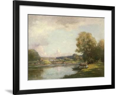 Summer at Hemingford Grey-William Kay Blacklock-Framed Giclee Print