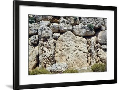 Walls of the Megalithic Temple of Ggantija--Framed Photographic Print