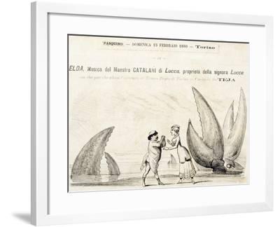 Title Page of Elda, Opera-Alfredo Catalani-Framed Giclee Print