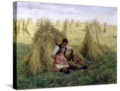 The Story of Ruth and Boaz, 1894-Frank Topham-Stretched Canvas Print